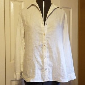 New white linen blouse
